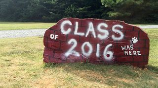 Carolina Christian Spirit Rock with Class of 2016 messege