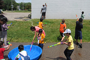 CSI Last Day of School Party water games