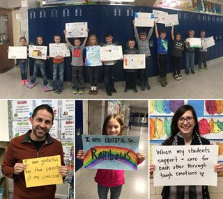 Photos of Fremont Christian students and staff showing gratitude