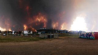Fort McMurray fire from student entrance