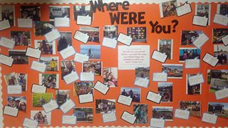 "Fort McMurray Christian School ""Where Were You?"" board"