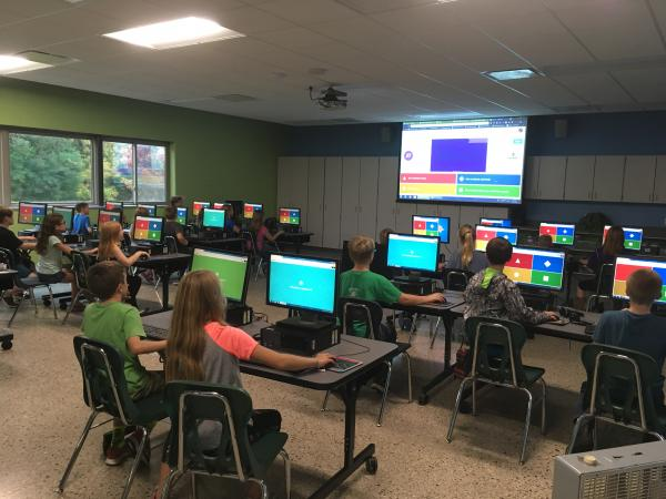 Fremont Christian class taking the Bible Quiz Challenge Kahoot