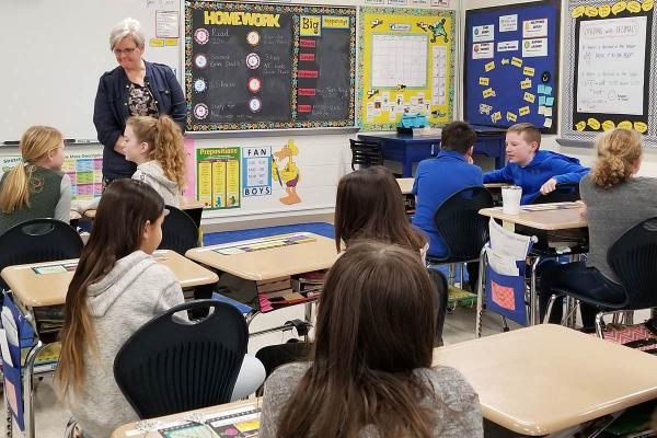 Whitinsville Christian School's Beth Banning teaching Bible class