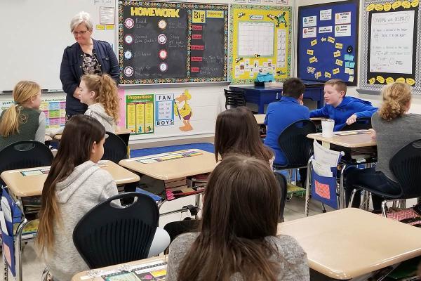 Whitinsville Christian School's Beth Banning teaching Bible class