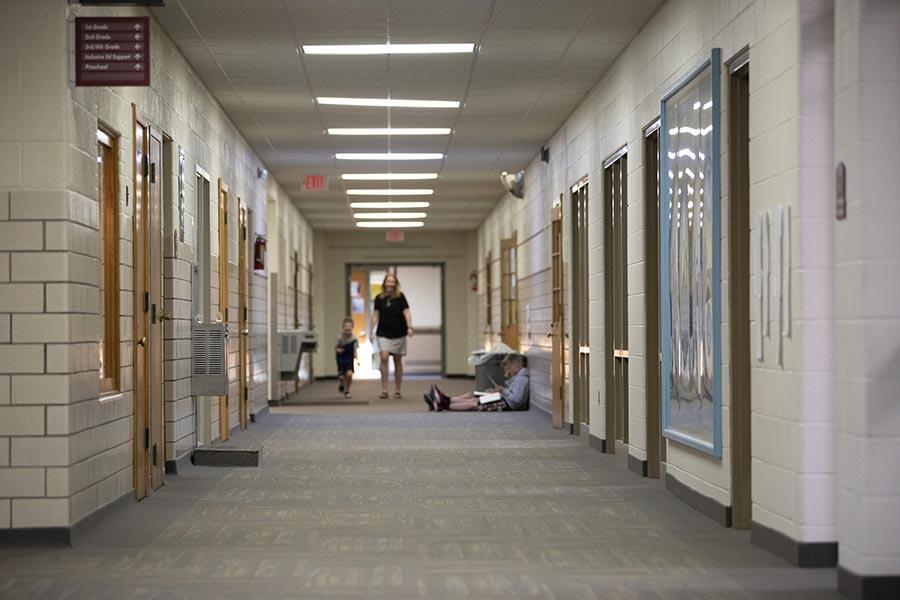 Accent Image - School Hallway