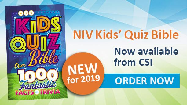 NIV Kids' Quiz Bible is now available from CSI. Order at store.csionline.org.