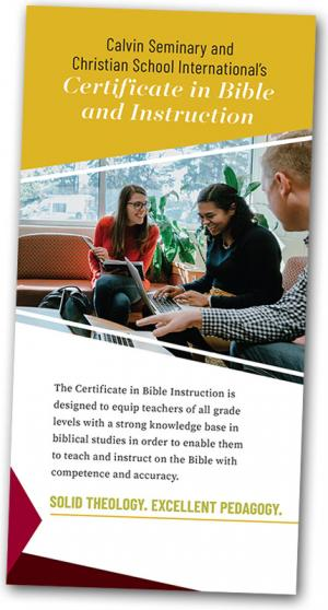 Certificate in Bible and Instruction brochure cover image